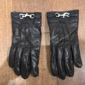 Authentic coach leather gloves